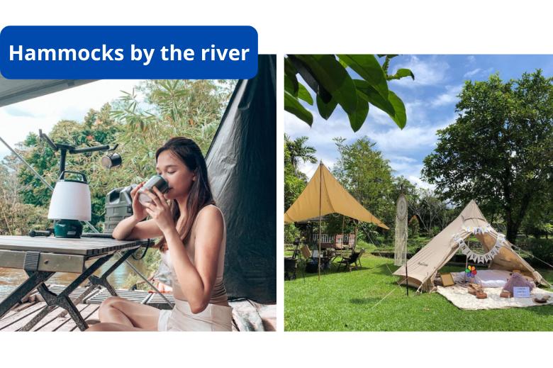 溪边露营地 Hammocks by The River